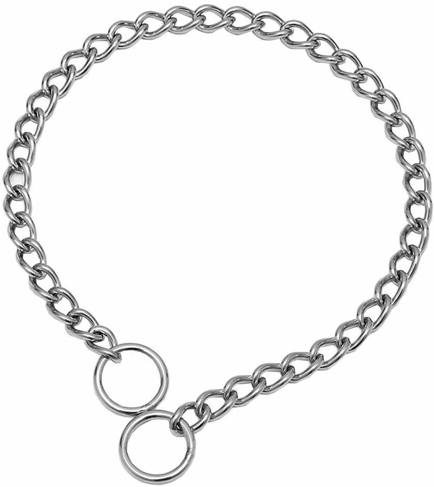 Stainless Steel Choke chain collar/ Collare catena addestramento