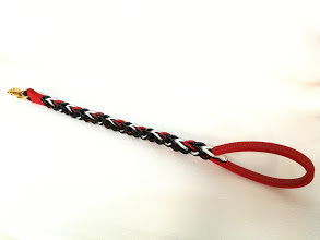 Braided leash in 3 colors (red, blue, white)