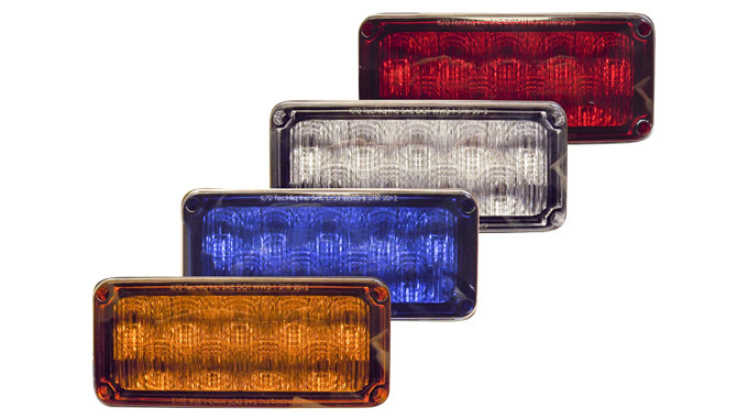 "TecNiq K70 7""x3"" Warning Light with Autosync"