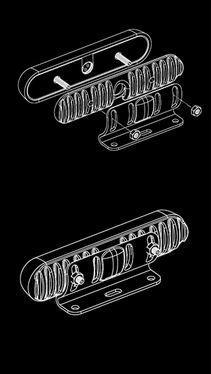 SoundOff Deck/Grille Bracket Kit for 4