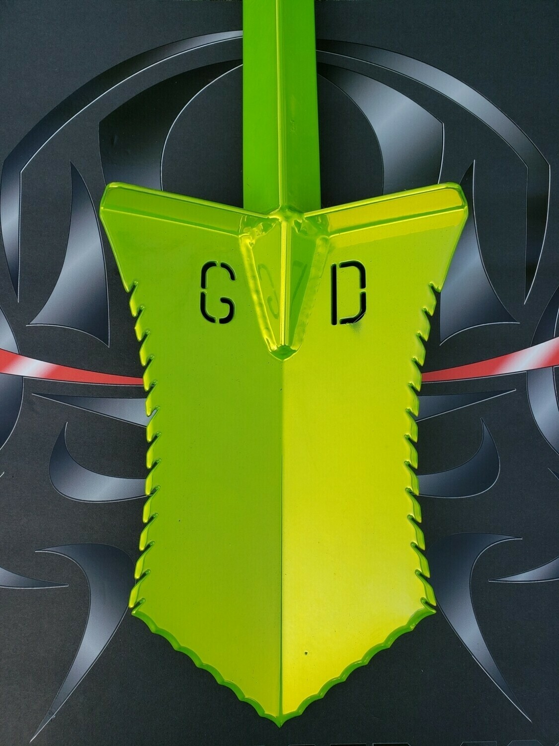 VENOM GREEN BAD POWDER COAT SHOVELS - SOLD AS IS - NON RETURNABLE OR REFUNDABLE