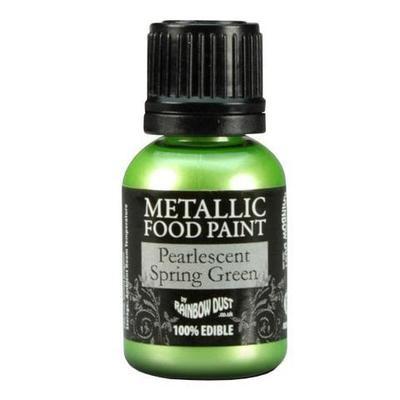 Rainbow Dust Metallic Food Paint Spring Green