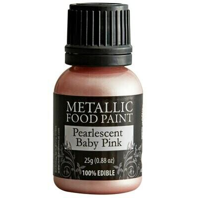 Rainbow Dust Metallic Food Paint Pearlescent Baby Pink