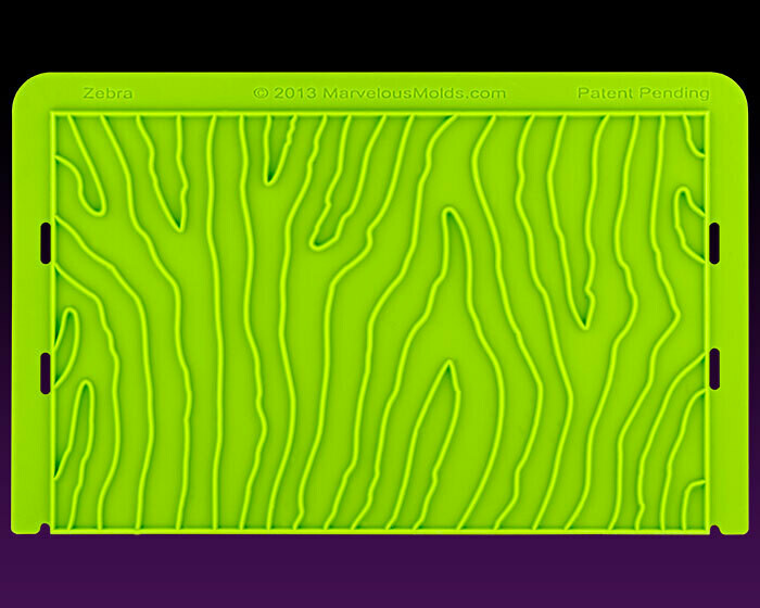 Marvelous Molds Zebra Pattern Onlay