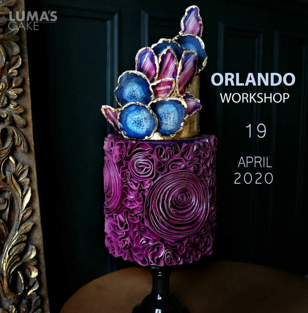 MODERN AGATE and Ruffle Cake Workshop with Lumas Cakes on April 19th at TSCS. All-inclusive $355