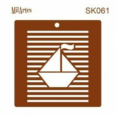 Sailboat Stripe Stencil