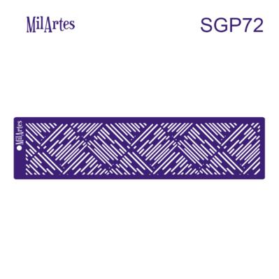 Patterned Stripes Stencil