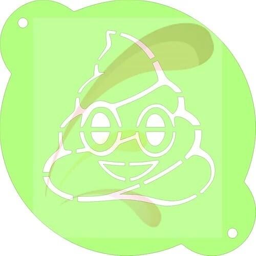Poo Emoji Stencil