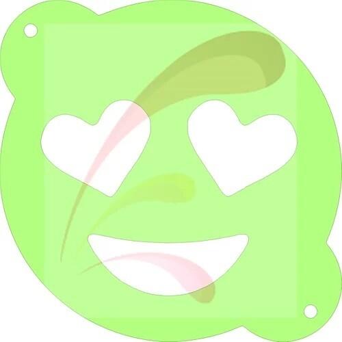 Heart Eyes Emoji Stencil