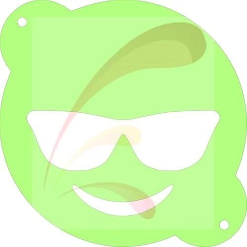 Sunglasses Emoji Stencil