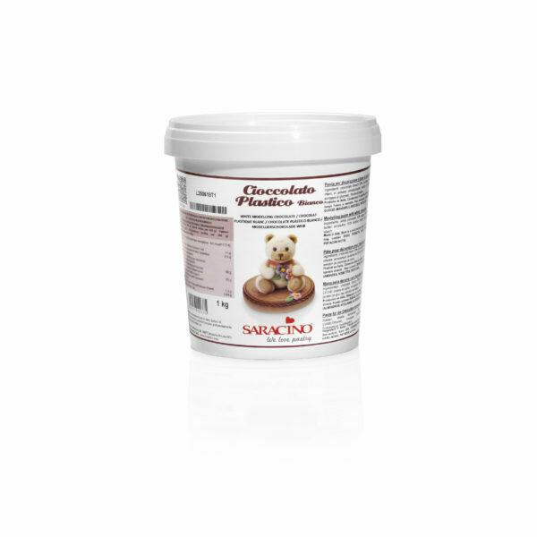 Saracino White Modeling Chocolate 1kg (2.2 Lbs)