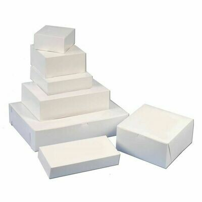 White Bakery Boxes Multiple Sizes (In-Store Pickup ONLY)