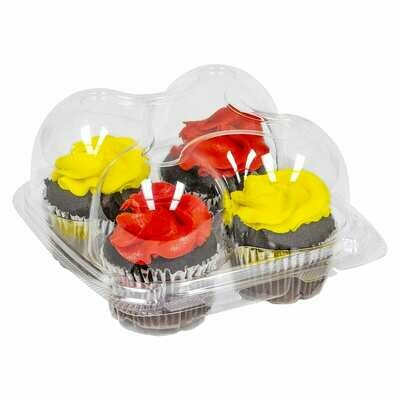 Clear 4 Count Large Cupcake Container