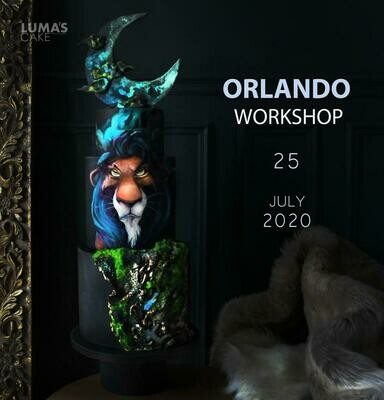 SOLD OUT W/ NEW DATE: July 25, Scar from The Lion King Cake Hands-On Workshop with Luma's Cakes