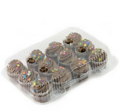 Clear Cupcake Container Mini 12