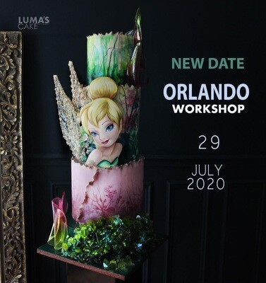 SOLD OUT in less than an hour!! REGISTRATION is CLOSED!! Luma's Cakes Encore Tinkerbell Hands-On Intensive Workshop Wednesday 7/29/2020