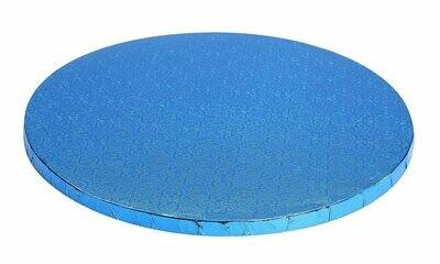"Round Blue Cake Drum Sizes 10"" - 14"""
