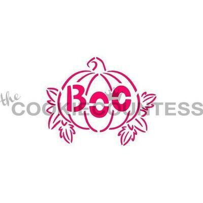 CC Pumpkin Boo Stencil