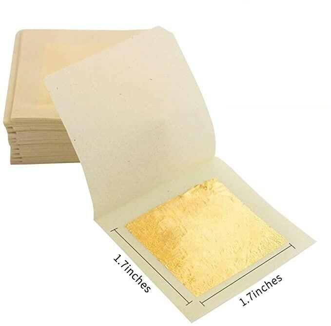 24K Edible Gold Leaf 10 Sheets
