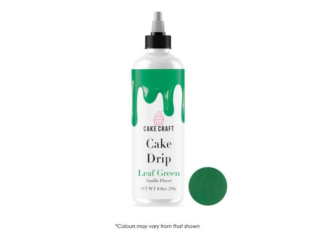 Cake Craft Cake Drip Leaf Green