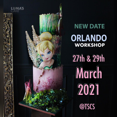 New Date MARCH 27th 2021 Tinkerbell Intensive Workshop by Luma's Cake