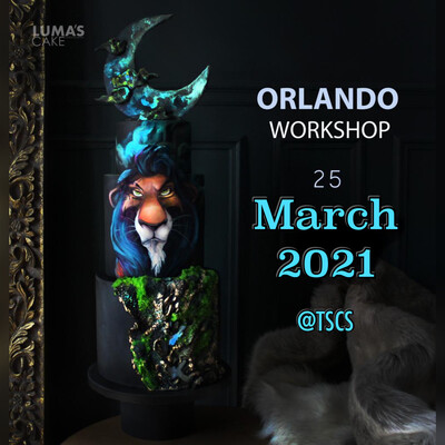 New Date MARCH 25th 2021 Scar from The Lion King Intensive Workshop by Luma's Cake