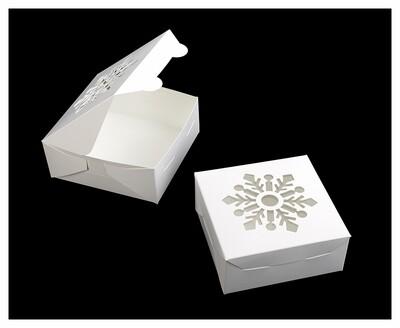 "Snowflake Window Cookie Box 6""x6""x2.5"""
