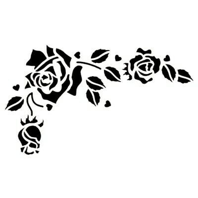JEM Romantic Rose Stencil