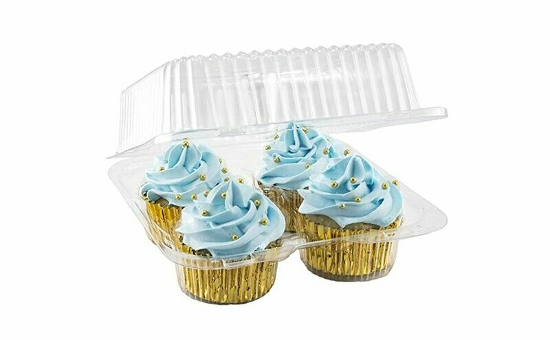 Clear 4 Count Cupcake Container