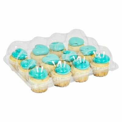 Clear 12 Count Cupcake Container