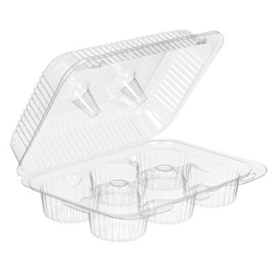 Clear 6 Count Cupcake Container