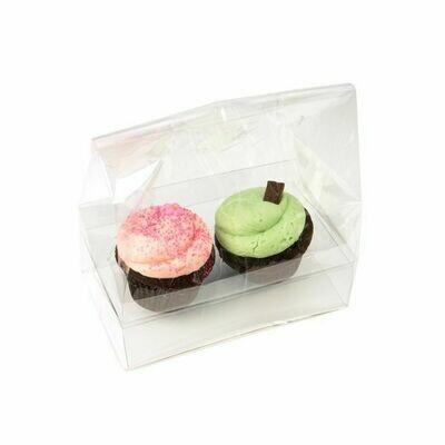 Clear Cupcake Bag 2ct