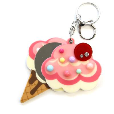 Mirror Ice Cream Keychain