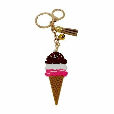 PVC Ice Cream Keychain