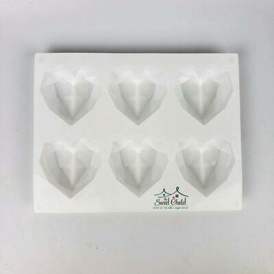 Simi Geometric Heart Silicone Mold