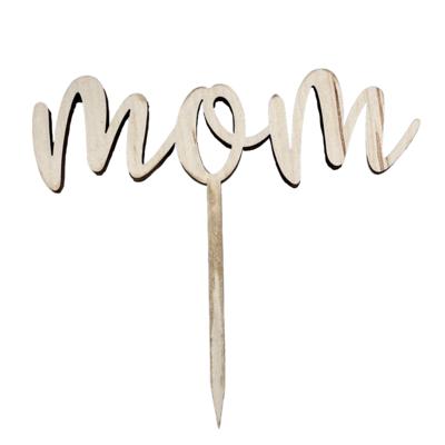 """MOM"" Cake Topper"