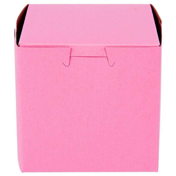 """Pink 4""""x4""""x4"""" Box"""