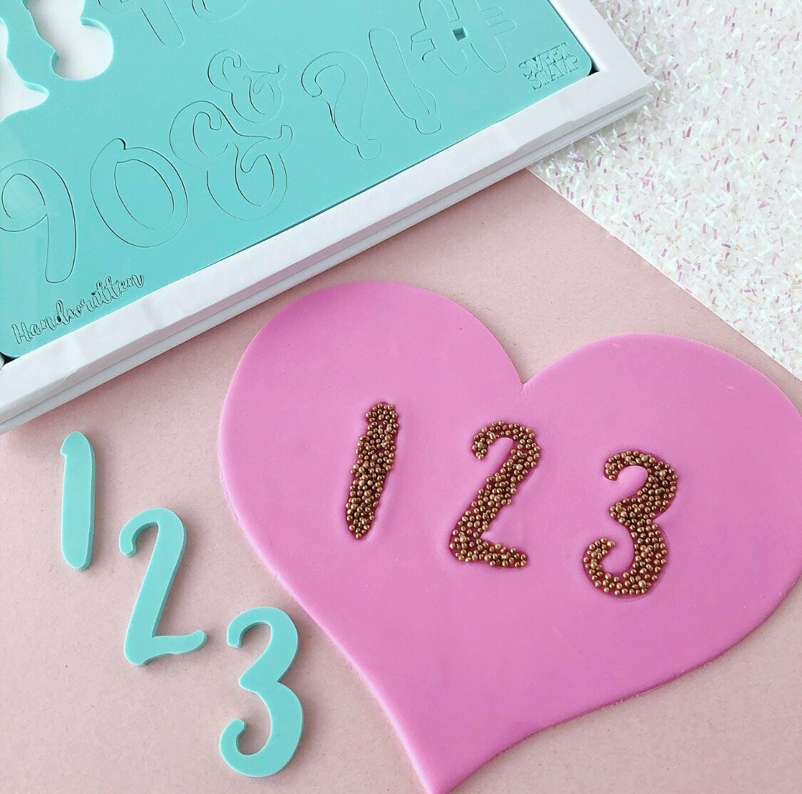 Sweet Stamp Handwritten Set (Numbers & Symbols)