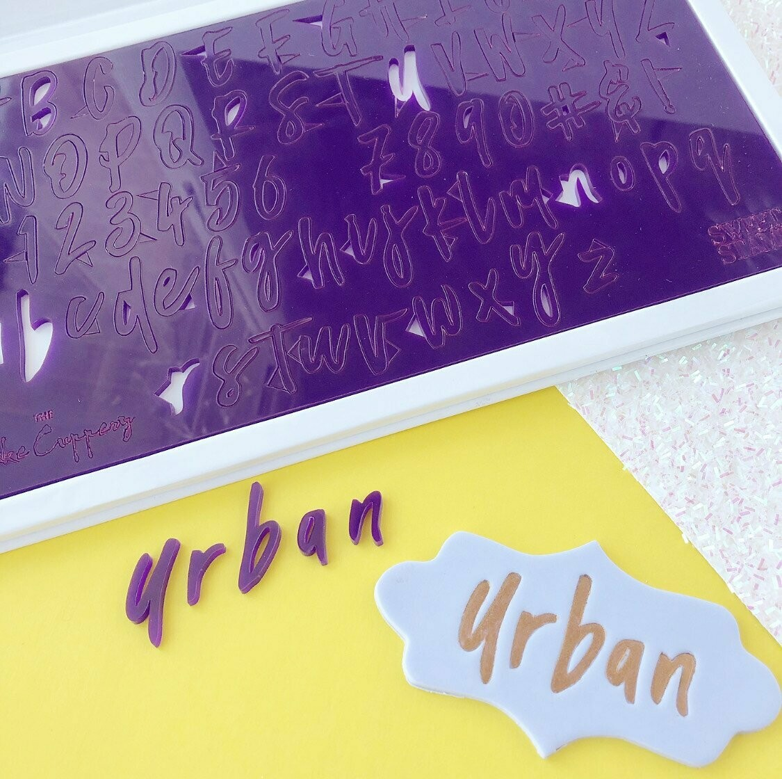 Sweet Stamp Urban Set by The Cake Cuppery (Uppercase, Lowercase, Numbers & Symbols)