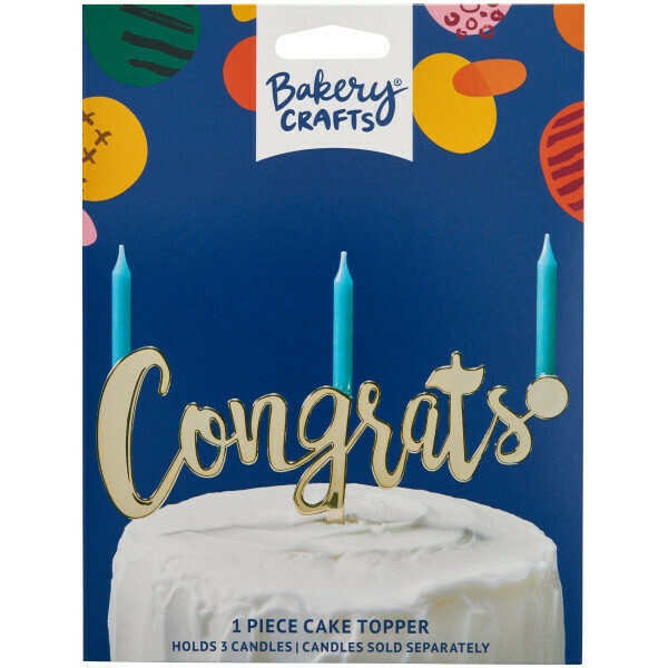 Congrats Gold Topper
