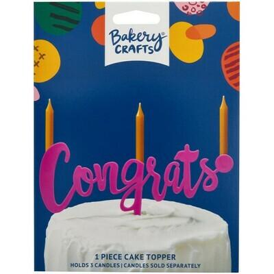 Congrats Magenta Topper