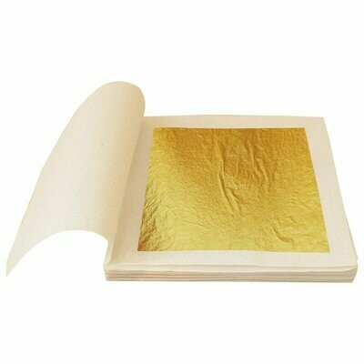 24k Edible Gold Leaf XL 10 Sheets