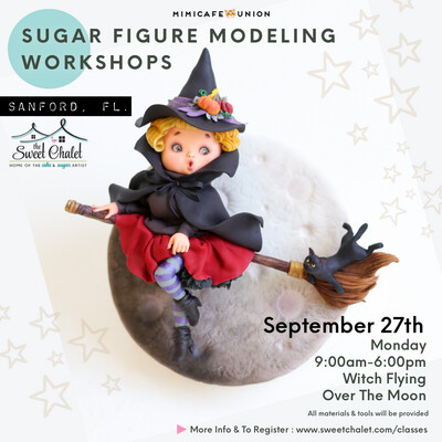 Witch Flying Over The Moon! with SACHIKO. MONDAY, Sept 27th 2021 from 10:45 am to 5:00 pm