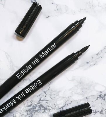 Edible BLACK Dual Tip Pen Set #2