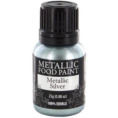 Rainbow Dust Metallic Food Paint Silver