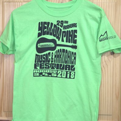 2018 Lime Green Festival T-shirt