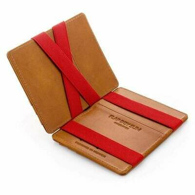 Flap Boy Slim RFID, Cognac | Rot