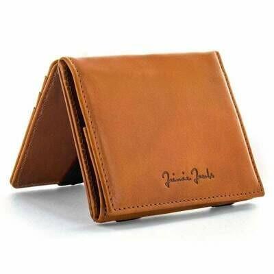 Flap Boy Pocket RFID, Cognac | black