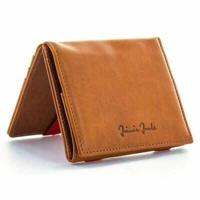 Flap Boy Pocket RFID, Cognac | rot