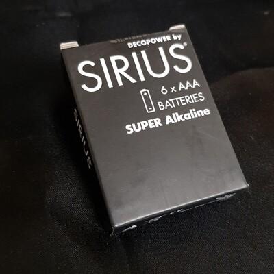 Batterie AAA, 6 Stück, Sirius